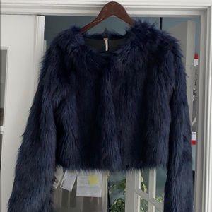 Free People Faux Fur Jacket